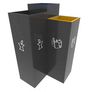 BERGEN-Sheet-Steel-Waste-Recycling-Bin-with-3-Compartments-Jaune-Anthracite-Bleu-3